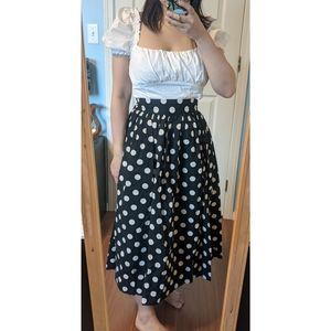 H&M Polka Dot Circle Skirt